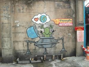und zum Schluss noch ne witzige Graffiti