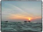 Koh Rong bei Sonnenuntergang