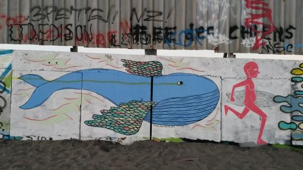 coole Graffitis überall in Bali zu sichten